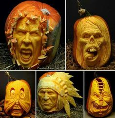 awesome carved pumpkins