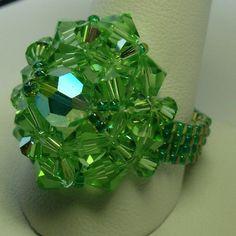 TUTORIAL for Crystal Beaded Wonderdome Ring by crystalwonders