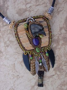 Raven Totem necklace by freespiritheidi on Etsy, $495.00