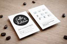 Coffee & Kitchen: business cards