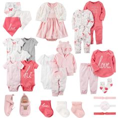 Baby Girl Carter's Pink Mix & Match Collection