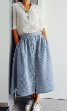 Modest Outfits, Girl Outfits, Looks Style, My Style, Ladylike Style, Couture Sewing, Look Vintage, Winter Dresses, Outfits
