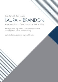 Posh Pattern Wedding Invitation - Marine | Invitations by David's Bridal