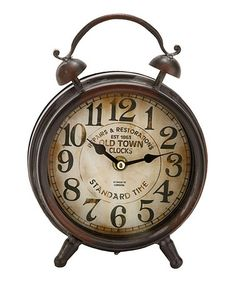 Take a look at this Brown Vintage Table Clock by UMA Enterprises on #zulily today!