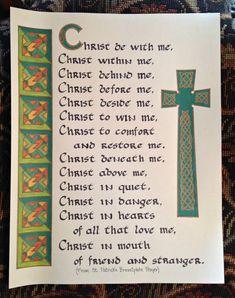 Patrick's Breastplate Prayer by BeautifulQuotes on Etsy St Patrick Quotes, St Patrick Prayer, Saint Patrick, Celtic Prayer, Irish Prayer, Irish Catholic, Catholic Prayers, Catholic Beliefs, Gaelic Blessing