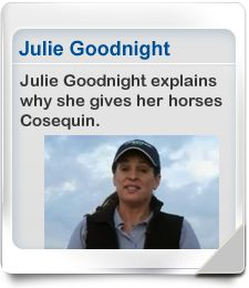 Julie Goodnight on Cosequin