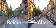Before and after  Cities are built for humans.But if you look at the layout of most of them, it looks like they're made for cars.  The results give us hope that our cities are becoming more beautiful places to live.