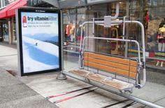 Sorprendentes paradas de autobus donde la publicidad forma parte de su entorno