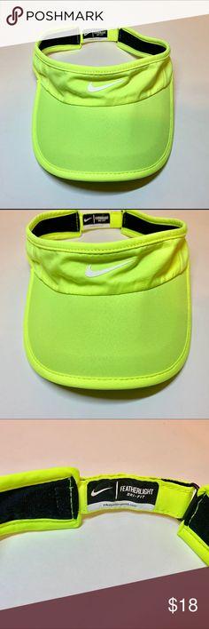 47d0b06f8836f Visor Hat Nike Dri-fit Featherlight Neon Women s Tennis Golf Visor Hat Nike  Dri-