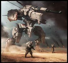 Recon squad, Daryl Mandryk on ArtStation at https://www.artstation.com/artwork/g5yWE