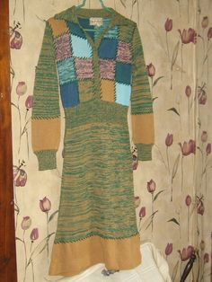 vintage  1970  patchwork     hippie sweater by Linsvintageboutique