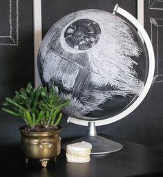 DIY globe terrestre etoile de la mort star wars détournement