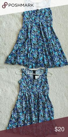 DRESS ????BABY BLUE & VIOLET SUMMER DRESS ALL THAT JAZZ Dresses Midi