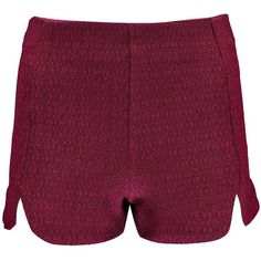 Boohoo Alex Curve Hem Woven Shorts (32 BRL) ❤ liked on Polyvore featuring shorts, short shorts, woven shorts, culottes shorts, embellished shorts and cropped shorts