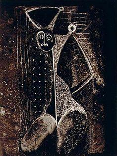 Odalisque Transmutation, Paris 1935* (Edition Gallerie les Contards, 1967*) engraving by Brassaï