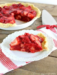 Yummy strawberry pie