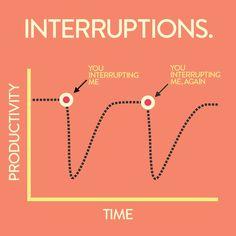 Interuptions.