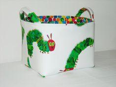 Fabric Basket Organizer Bin -The Very Hungry Caterpillar on Etsy