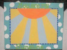You are my Sunshine gender neutral nursery art. $35.00, via Etsy.