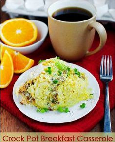 Cheesy Hash Brown Breakfast Casserole | AllFreeSlowCookerRecipes.com