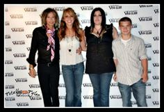 Steven Tyler with 3 of his 4 children - Chelsea, Mia and Taj (missing is Liv).