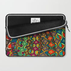 African Style No13, Tribal dance Laptop Sleeve
