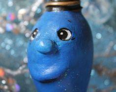 Twinkling Blue Christmas Bulb Ornament