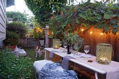 """Whitney's love of overgrown greens is evident in her cozy backyard — and serves a useful purpose. """"Outdoor walls covered in ivy or creeping fig can soften the appearance of city porches and patios,"""" she points out."""