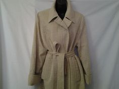 Beautiful Beige Color, Neutral Colors, Its Cold Outside, Vintage Coat, Cuff Sleeves, Vintage Designs, Size 14, Pure Products, Couture