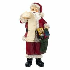 Santa - Shop by Season Winter Santa is double checking his list while holding a stocking filled with presents for good little boys and girls. Hand painted resin doll is non-posable and has no removable pieces. x 5 Miniature Christmas Trees, Christmas Minis, Christmas Tree Decorations, Merry Christmas, Christmas Ornaments, Big Doll House, Doll House People, Dollhouse Accessories, Doll Accessories
