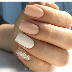 Semi-permanent varnish, false nails, patches: which manicure to choose? - My Nails Cute Acrylic Nails, Acrylic Nail Designs, Cute Nails, Pretty Nails, Sparkly Nail Designs, Shellac Designs, Neutral Nail Designs, Short Square Acrylic Nails, Short Square Nails
