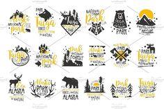Illustrations Product Images ~ Alaska National… ~ Creative Market