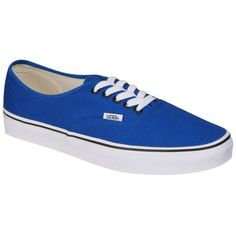 Vans Authentic Canvas Trainers - Snorkel Blue/Black ($72) ❤ liked on Polyvore