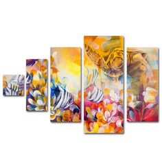 Key Largo by Palacios Painting Print 5 Panel Art Set