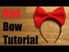 ♥DIY No Sew Red Bow Headband Tutorial♥ - YouTube Possibly for kiki's delivery service.