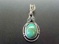Pendant.  Vintage 925 Sterling Silver Oval di colorsofthesouthwest, $39.95