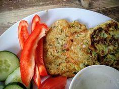 Turkse courgette-pannenkoekjes Eggs, Stuffed Peppers, Healthy Recipes, Fruit, Vegetables, Breakfast, Food, Morning Coffee, Stuffed Pepper