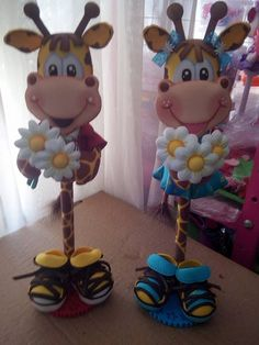 Dyi Crafts, Foam Crafts, Crafts For Kids, Arts And Crafts, Giraffe Crafts, Animal Crafts, Pencil Toppers, Cute Clay, Miniature Crafts