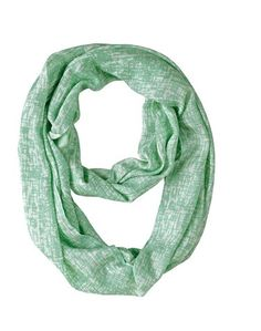Infuse interesting style into your outfit with our Lucite Abstract infinity scarf! This Bella Taylor scarf is made from 100% viscose material in an off-white and sea foam green abstract pattern.  https://www.uptowncasual.com/products/lucite-abstract-infinity-scarf #uptownscarves #scarves #infinityscarves