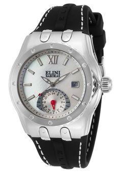 Elini Barokas Watches Genesis Vision Black Silicone White Mother of Pearl Dial 20029-02,    #EliniBarokas,    #2002902,    #Fashion