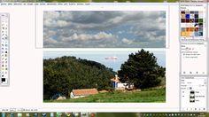 Como editar un cielo con Gimp