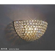 Diyas IL30758 Ava Wall Light - W.T.Lighting Wall Lights, Ceiling Lights, Crystal Wall, Ava, Crystals, Lighting, Decor, Appliques, Decoration