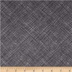 Kaufman Architextures Diagonal Grid Charcoal