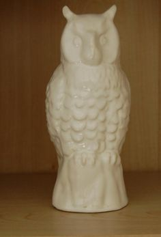 Ceramic Owl, £5.00 by Next Chapter:  This impressive figure was made in England and stands 19cm tall. The left ear has been repaired. Because it is all white you may wish to decorate and paint a colour on it. A blank canvas really. You can collect this in person from our stall at the Worcester October fest market 23 - 24 October
