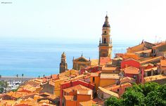 #Menton, straggling the French and Italian Riviera.  http://allthingsriviera.com/french-and-italian-riviera/