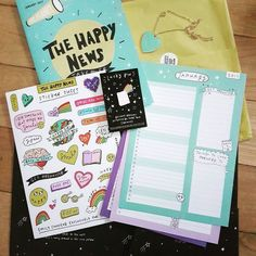 Happy News! My @luckydipclub box has come thrpugh the post.with designs by @emilycoxhead Yay!