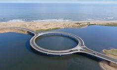 "A new circular bridge in Uruguay represents ""a lagoon within a lagoon"" according to the architect Rafael Viñoly."