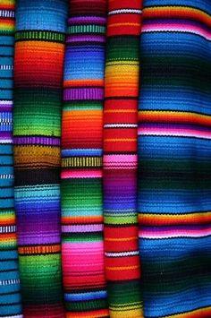 Guatemalen blankets.