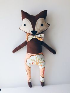 Meet Henry the Fox, the second doll in our new collection of boy dolls. Made by TinyLittleHeartsShop on Etsy: www.tinylittleheartsshop.etsy.com