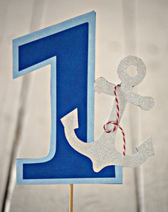 The NAUTICAL Fare - Custom Number Cake Topper from Mary Had a Little Party on Etsy, $14.00